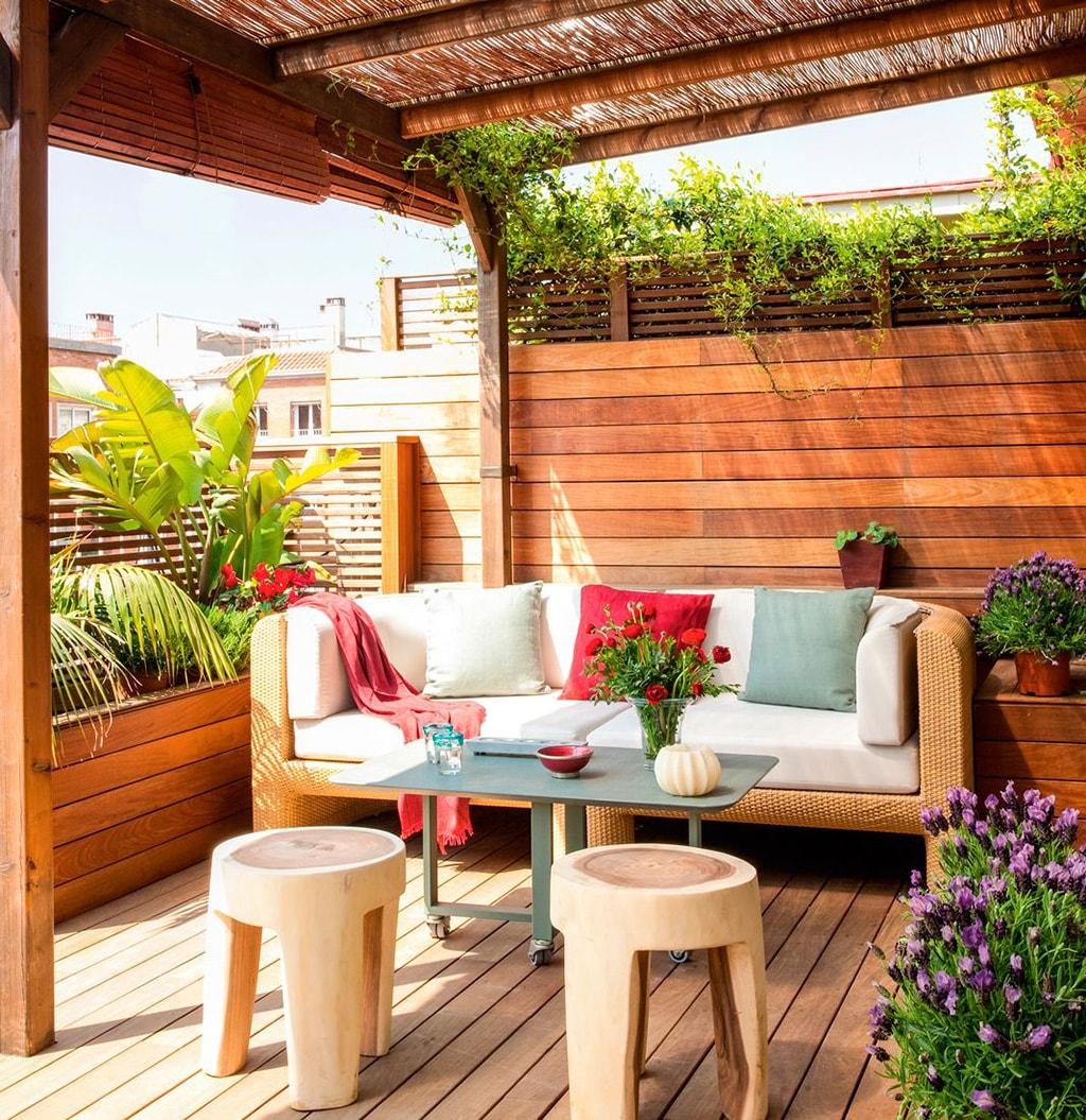 Decoraci n de terrazas de ticos globalia espacios for Decoracion terrazas modernas