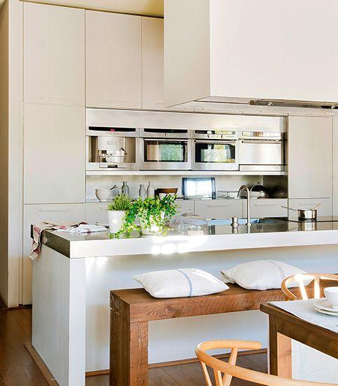 Ideas de cocinas integradas en el sal n globalia espacios - Cocinas integradas ...