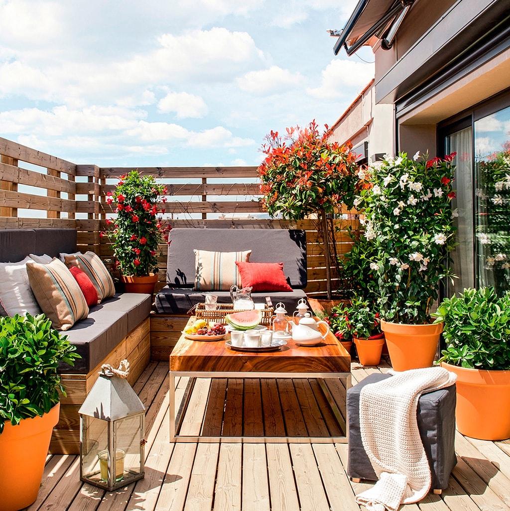 Decoraci n de terrazas de ticos globalia espacios - Muebles de terraza ...